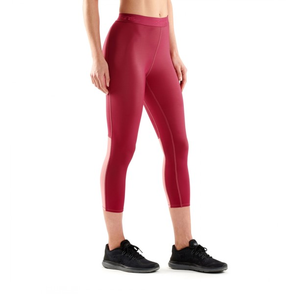 Skins DNAmic Womens Compression 7/8 Tights - Claret
