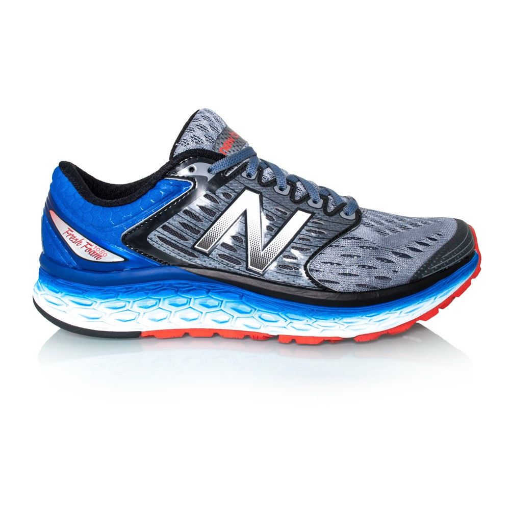 new balance fresh foam 1080 mens running shoes silver blue flame online sportitude. Black Bedroom Furniture Sets. Home Design Ideas
