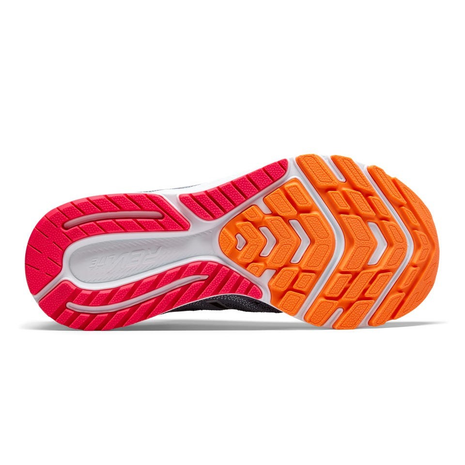 d11d6db661a7 New Balance FuelCore Rush v3 - Womens Running Shoes - Steel Black Vivid  Tangerine