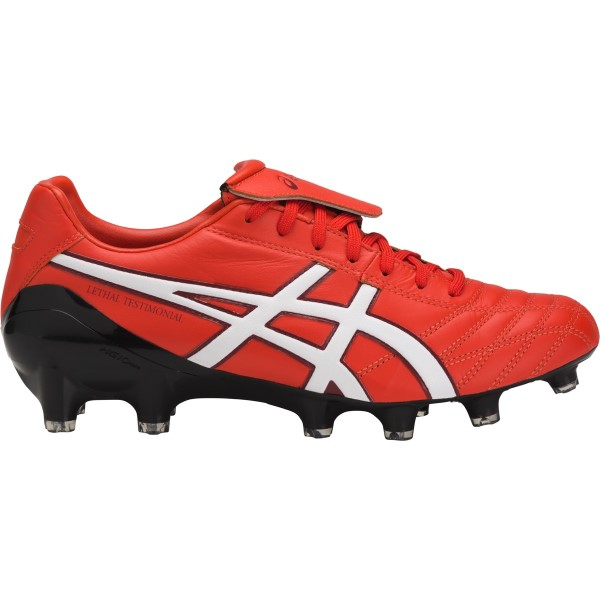Asics Lethal Testimonial 4 IT - Mens Football Boots - Vermillion/White/Black