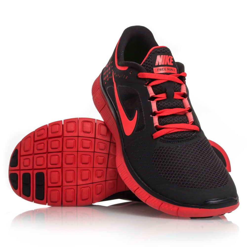 be62a44b92734 Nike Free Run+ 3 - Mens Running Shoes - Black Bright Crimson ...