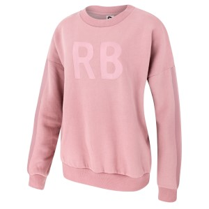 Running Bare Oversized Womens Crew Sweatshirt