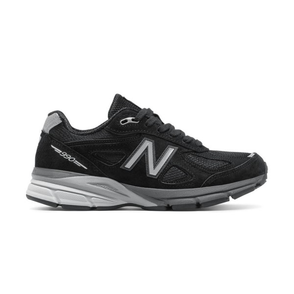 New Balance 990v4 - Womens Running/Casual Shoes - Black/Silver