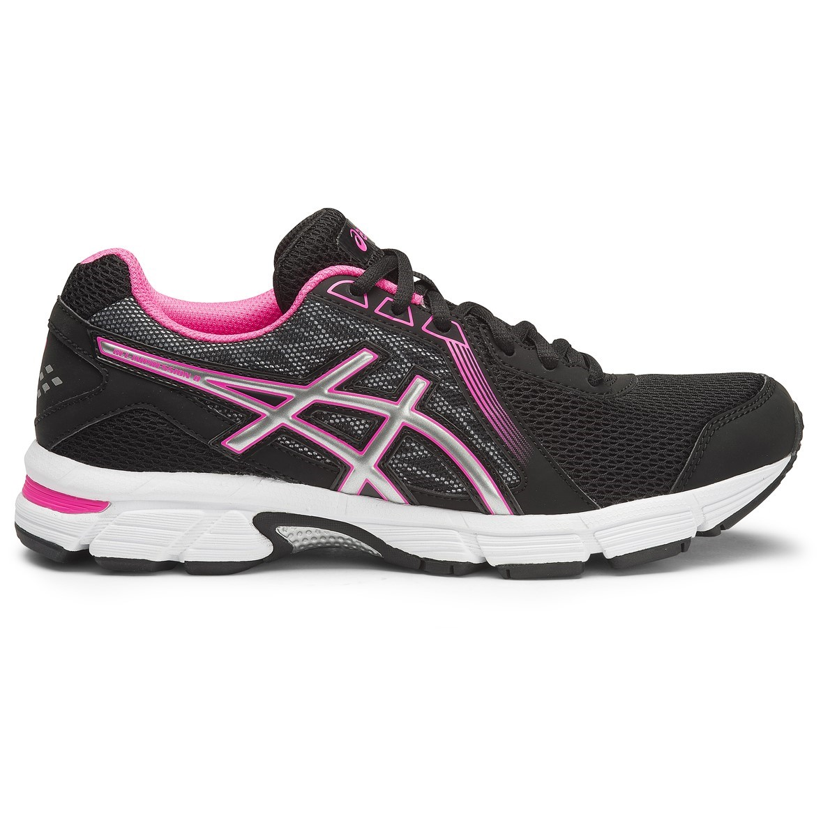 cd5a6885734a Asics Gel Impression 8 - Womens Running Shoes - Black Silver Pink Glow