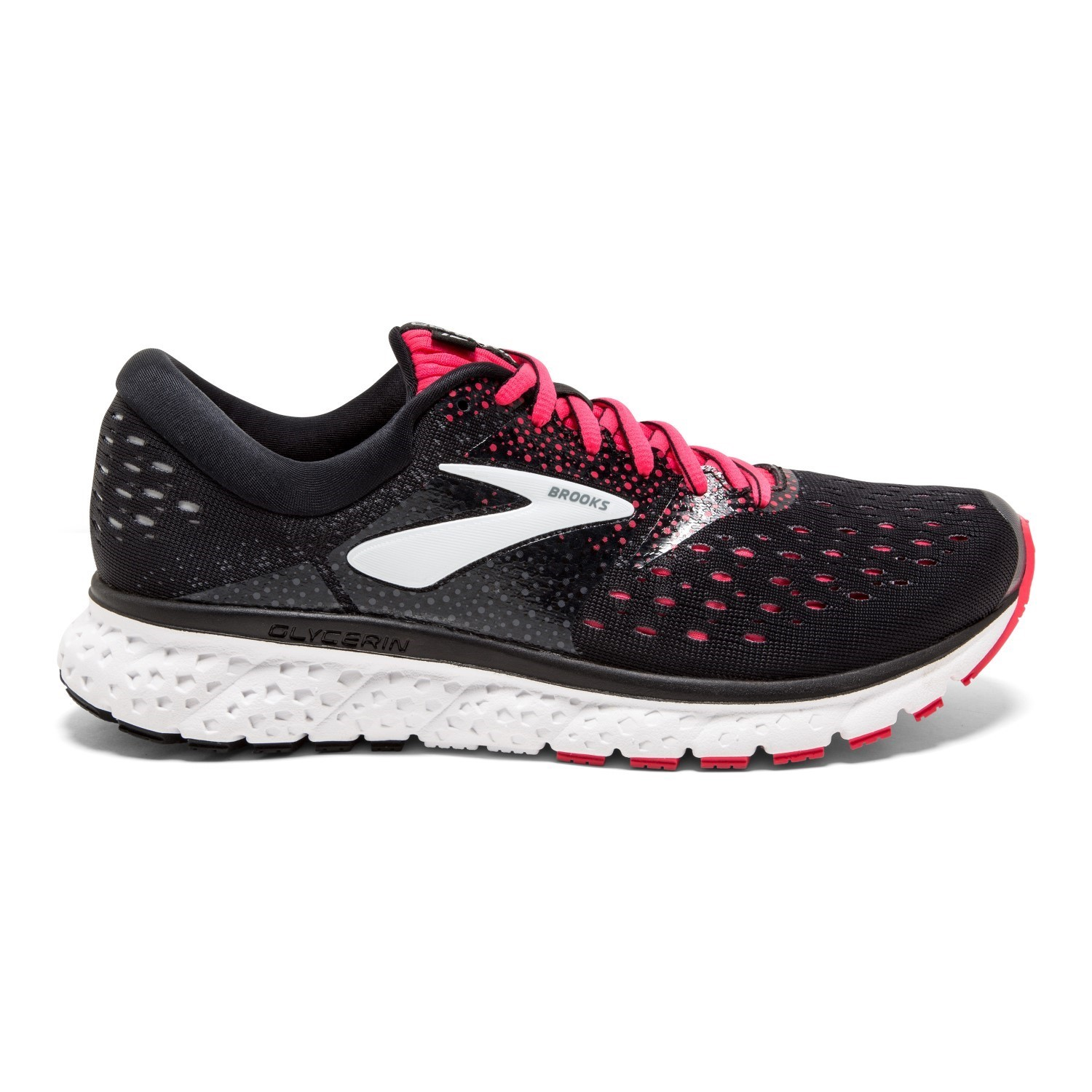ec3c7cb268a Brooks Glycerin 16 - Womens Running Shoes - Black Pink Grey