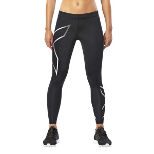 2XU Womens Compression Tights - Black/Silver