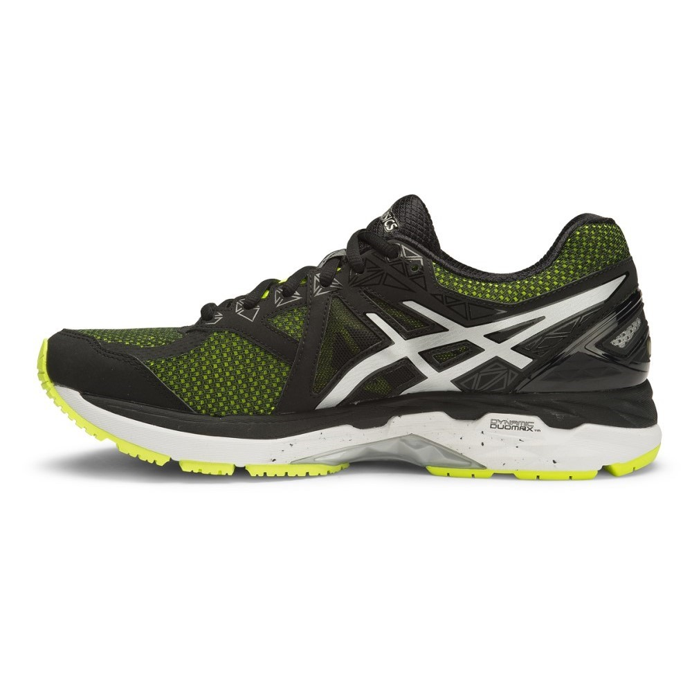 asics gt 2000 4 2e mens running shoes flash yellow black silver online sportitude. Black Bedroom Furniture Sets. Home Design Ideas