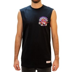Mitchell & Ness Toronto Raptors Retro Repeat Logo Mens Basketball Muscle Tank