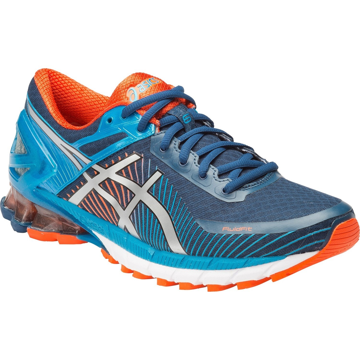 asics kinsei 6 mens running shoes poseidon silver blue. Black Bedroom Furniture Sets. Home Design Ideas