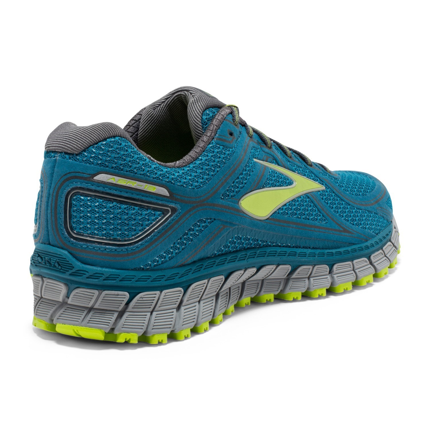 1954da23573 Brooks Adrenaline ASR 13 - Mens Trail Running Shoes - Blue Lime  Punch Anthracite