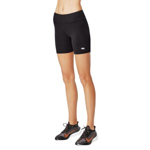 Running Bare High Rise Supplex Womens Bike Short Tights