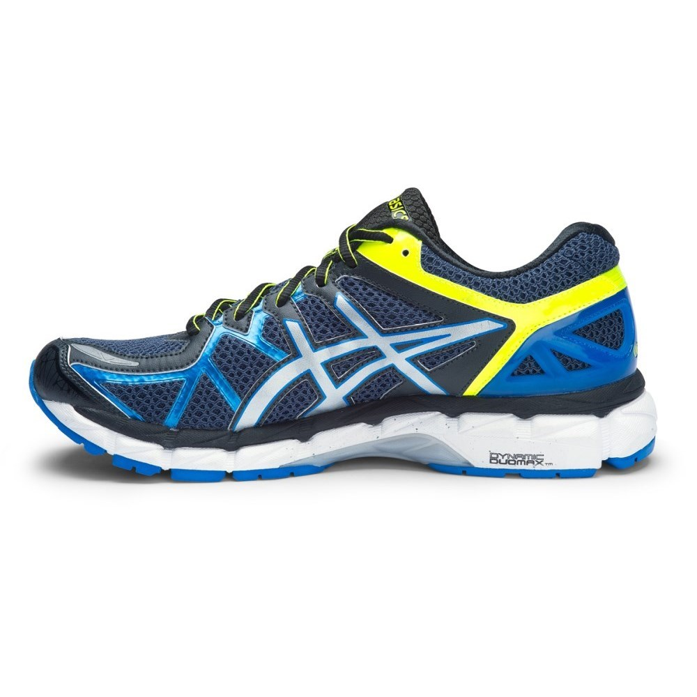asics gel kayano 21 mens running shoes indigo blue silver flash yellow online sportitude. Black Bedroom Furniture Sets. Home Design Ideas
