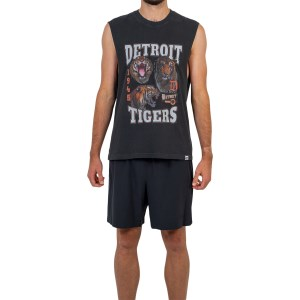 Majestic Athletic Detroit Tigers Vintage Rock Mens Baseball Muscle Tank