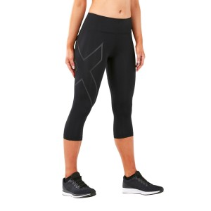 2XU Run Mid Rise Womens 3/4 Compression Tights