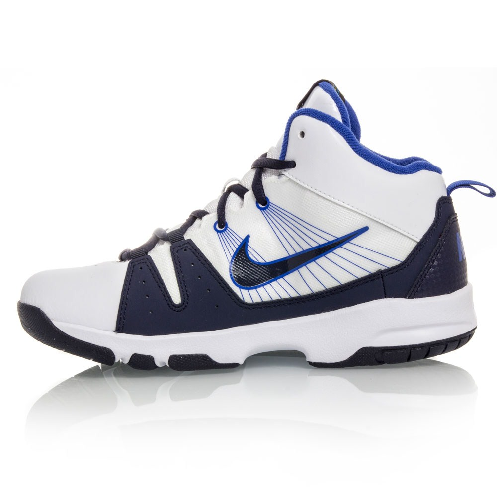 0b3fd7f317e Nike Flight Jab Step GS - Junior Basketball Shoes - White Blue Navy ...