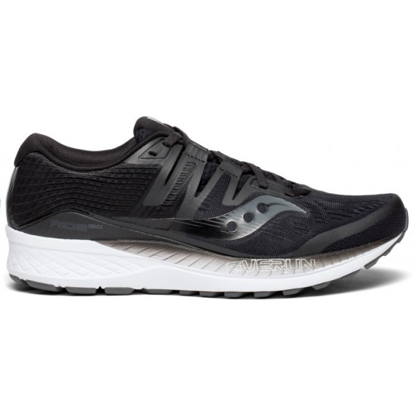 Saucony Ride ISO - Mens Running Shoes - Black/White