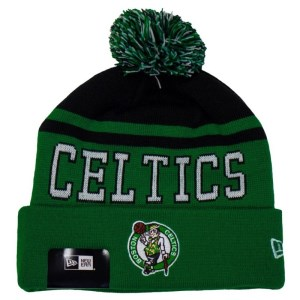 New Era Boston Celtics Knit Pom Basketball Beanie