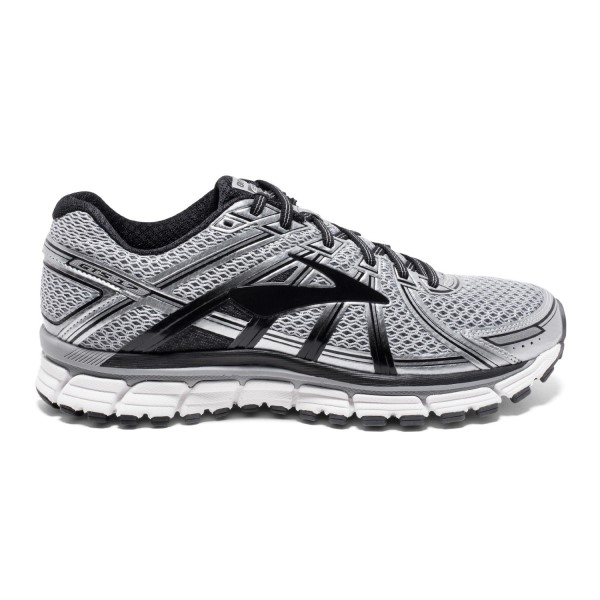 Brooks Adrenaline GTS 17 - Mens Running Shoes - Silver/Black/Anthracite