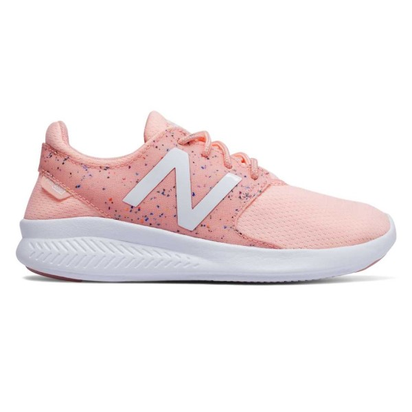 New Balance Fuel Core Coast v3 - Kids Girls Running Shoes - Himalayan Pink/White