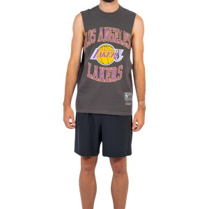Mitchell & Ness Los Angeles Lakers Vintage Crest Logo Mens Basketball Muscle Tank