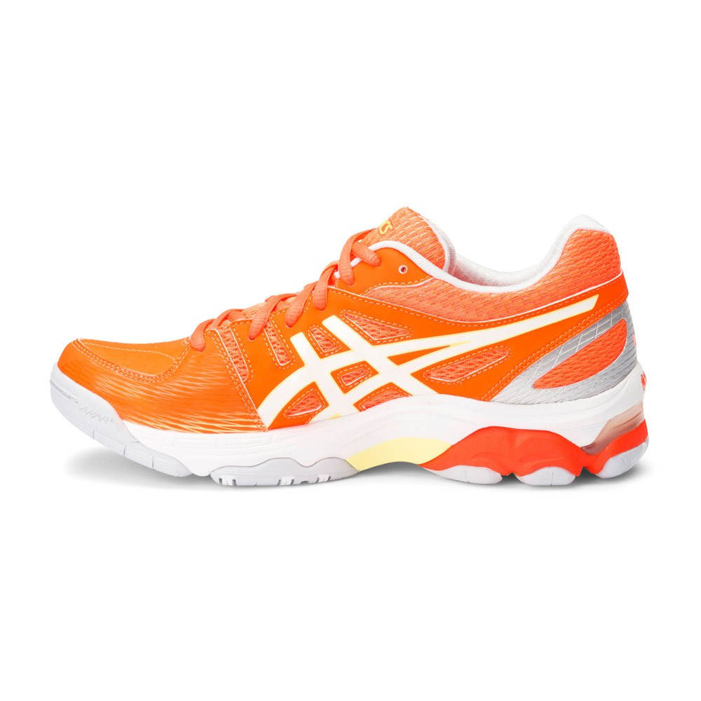 ade9a9b9999a Asics Gel Academy 6 - Womens Netball Shoes - Neon Orange White Silver