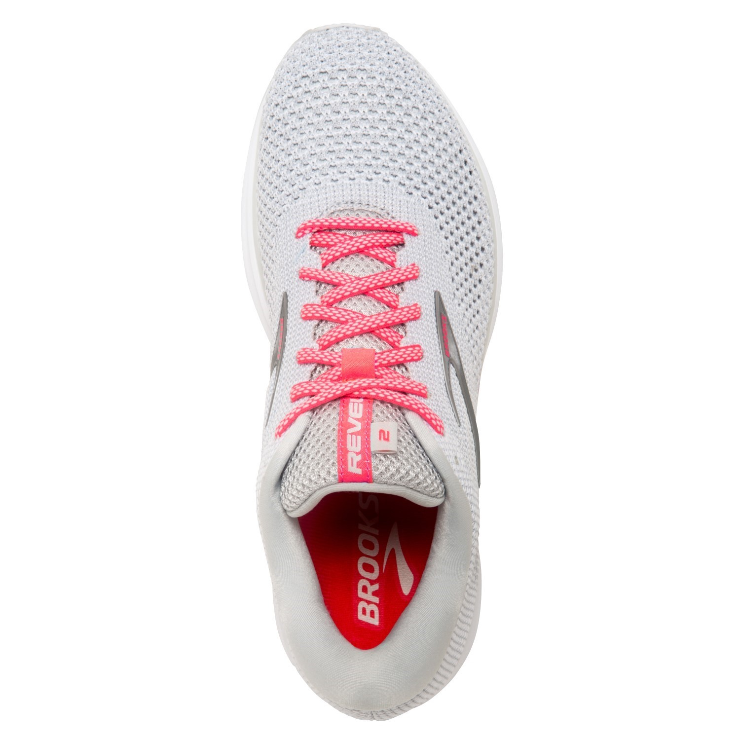 e4f483083af Brooks Revel 2 - Womens Running Shoes - Grey White Pink