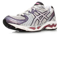san francisco aaa11 33280 Asics Gel Kayano 17 - Womens Running Shoes - White Silver Pink Purple
