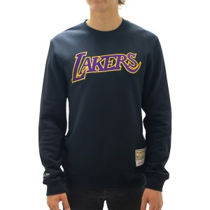 Mitchell & Ness Los Angeles Lakers Wordmark Emblem Mens Basketball Sweatshirt