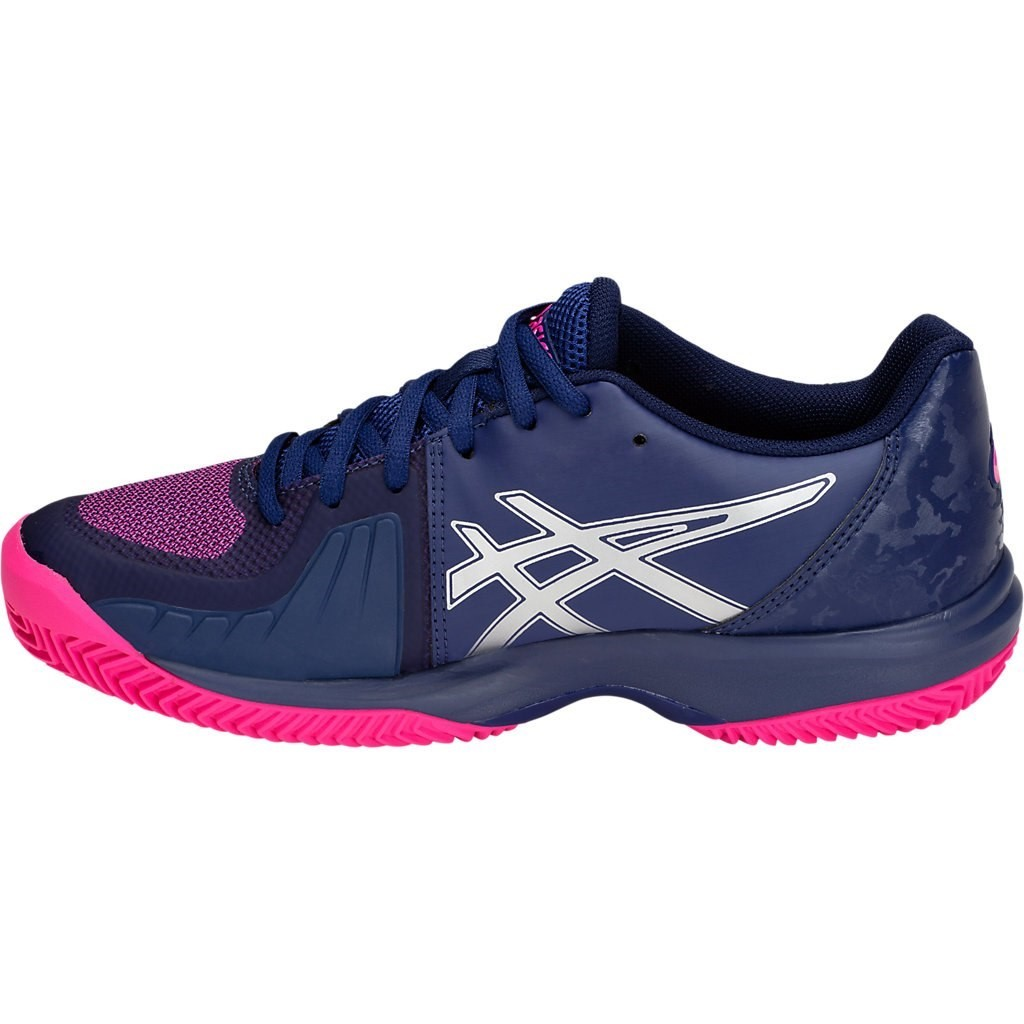 brand new 47392 304cb Asics Gel Court Speed - Womens Tennis Shoes - Blue Print Pink Glow