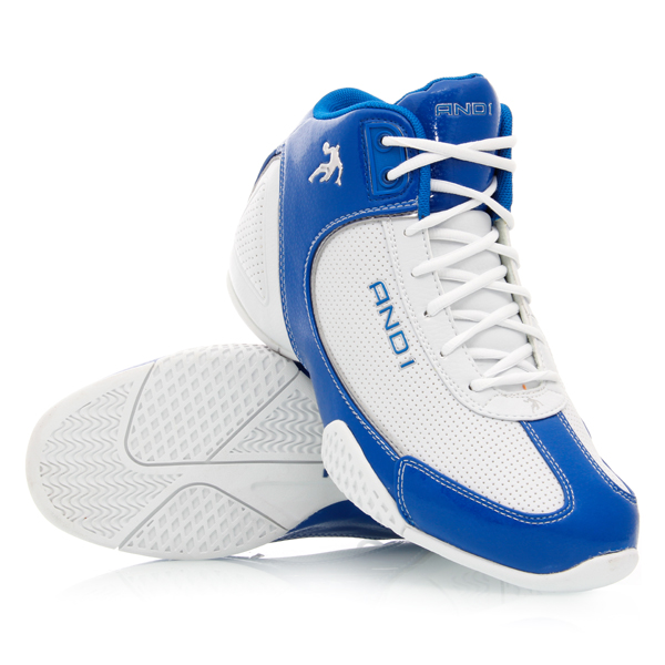 AND1 Mucho Gusto Mid - Mens Basketball Shoes - White/Royal/Silver ...