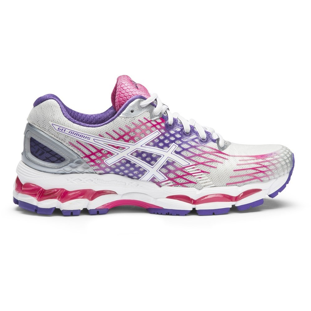asics gel nimbus 17 2a womens running shoes lightning purple hot pink online sportitude. Black Bedroom Furniture Sets. Home Design Ideas