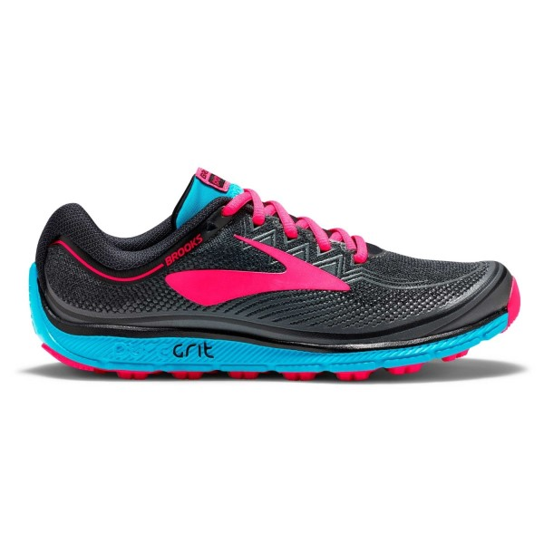 Brooks PureGrit 6 - Womens Trail Running Shoes - Black/Ebony/Diva Pink
