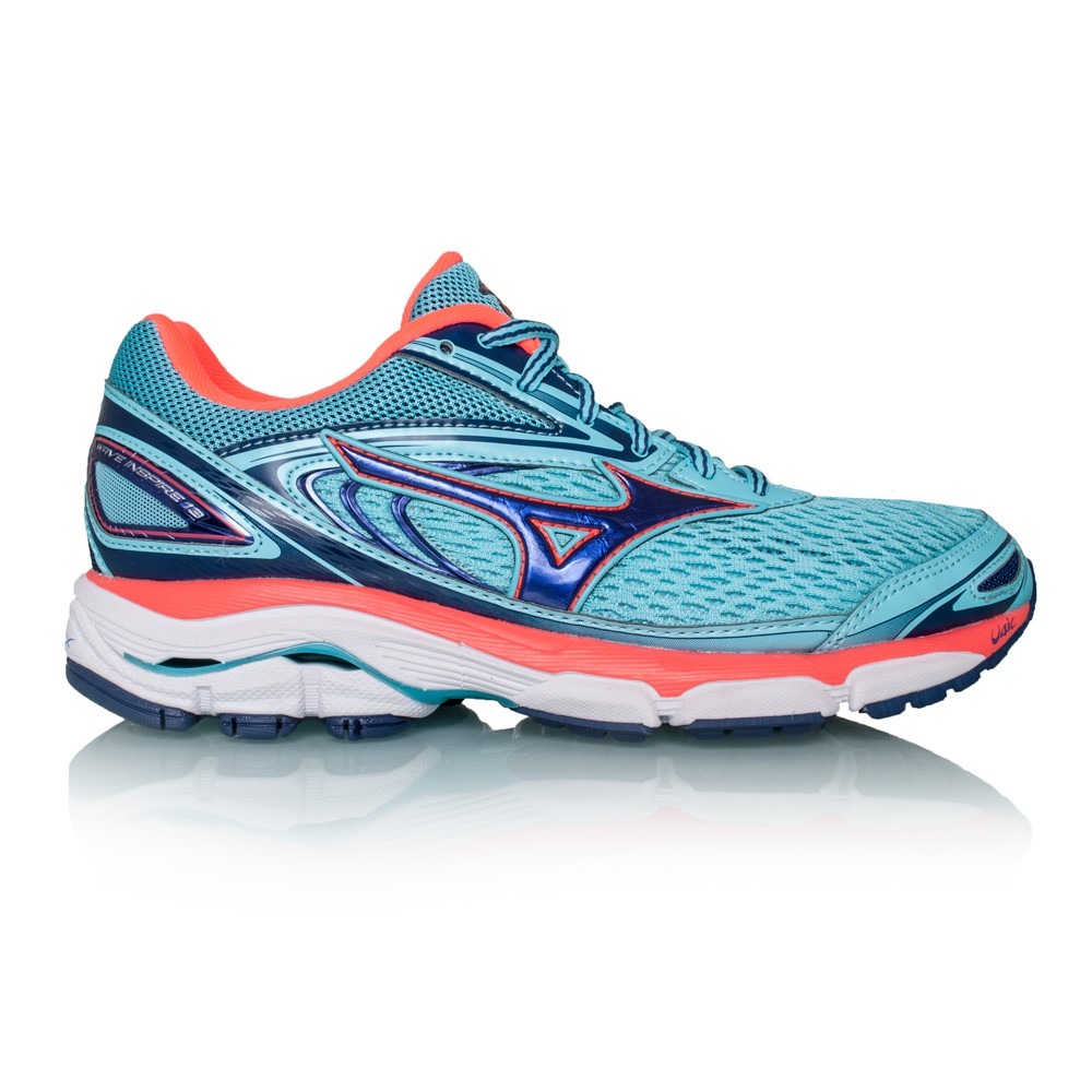 8530cd04698944 Mizuno Wave Inspire 13 - Womens Running Shoes - Blue Radience Fiery Coral