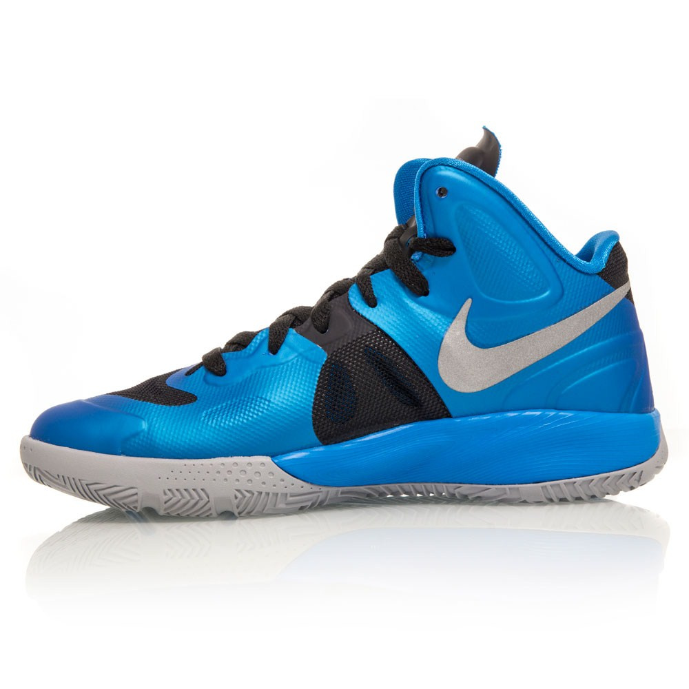 Nike Hyperfuse GS - Junior Basketball Shoes - Blue/Black ...