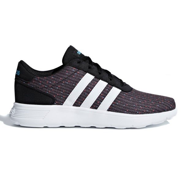 Adidas Lite Racer - Kids Boys Running Shoes - Core Black/White/Bright Cyan