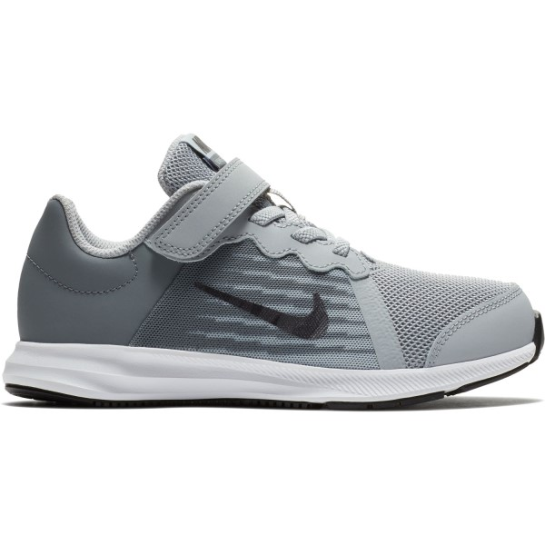 Nike Downshifter 8 PSV - Kids Boys Running Shoes - Wolf Grey/Metallic Dark Grey