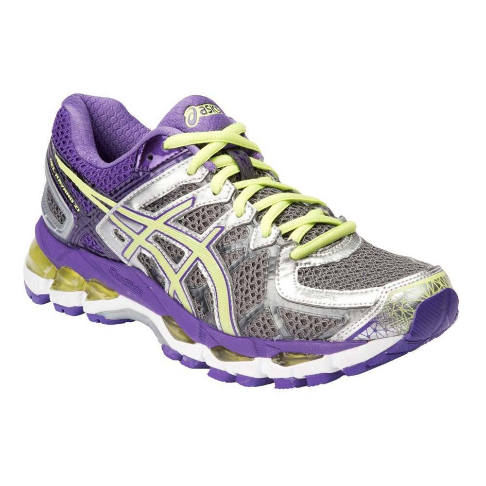 asics gel kayano 21 d womens running shoes charcoal sharp green purple online sportitude. Black Bedroom Furniture Sets. Home Design Ideas