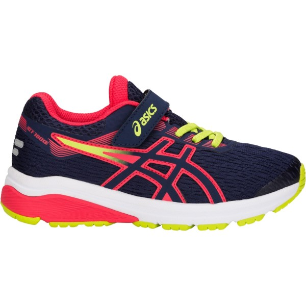 Asics GT 1000 7 PS - Kids Boys Running Shoes - Peacoat/Red Alert