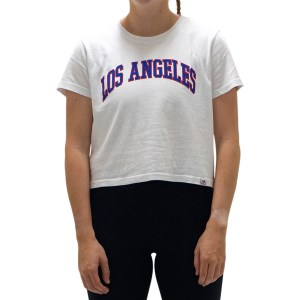 Majestic Athletic Los Angeles Dodgers Archy Womens Baseball Crop T-Shirt
