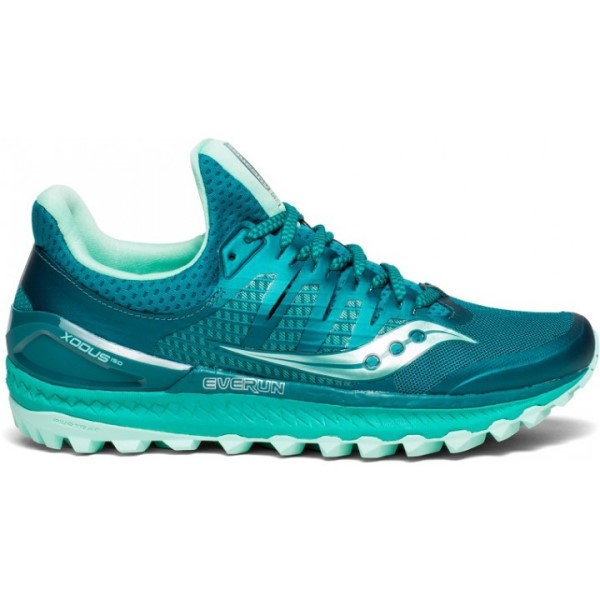 Saucony Xodus ISO 3 - Womens Trail Running Shoes - Green/Aqua