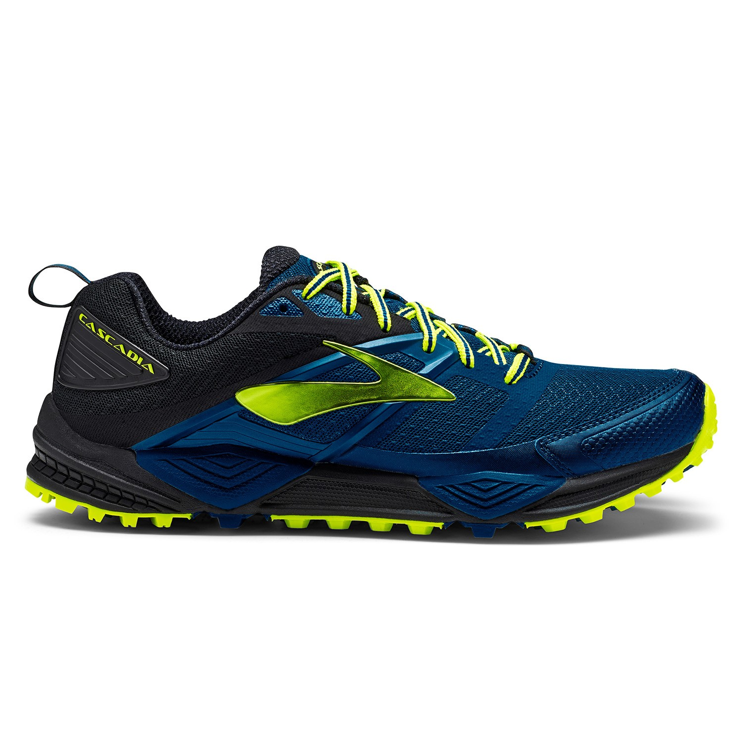 b1c0109e11a Brooks Cascadia 12 - Mens Trail Running Shoes - Blue Black Nightlife ...