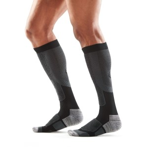 Skins Essentials Mens Thermal Compression Socks - Black/Pewter