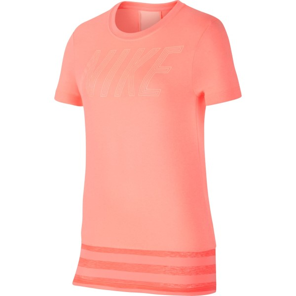 Nike Dri-Fit Kids Girls Training T-Shirt - Light Atomic Pink/Crimson Tint