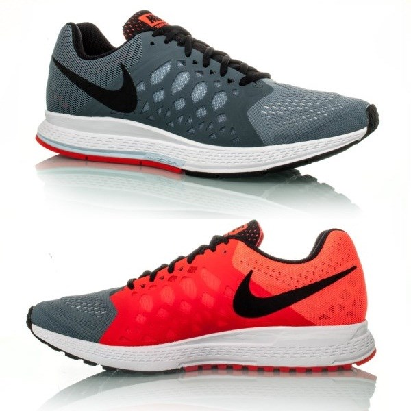 huge discount 80754 20717 Nike Air Zoom Pegasus 31 - Mens Running Shoes - Charcoal Hot Red White