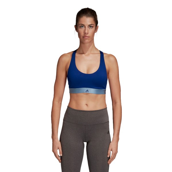 Adidas All Me Womens Sports Bra - Mystery Ink/Clear Orange