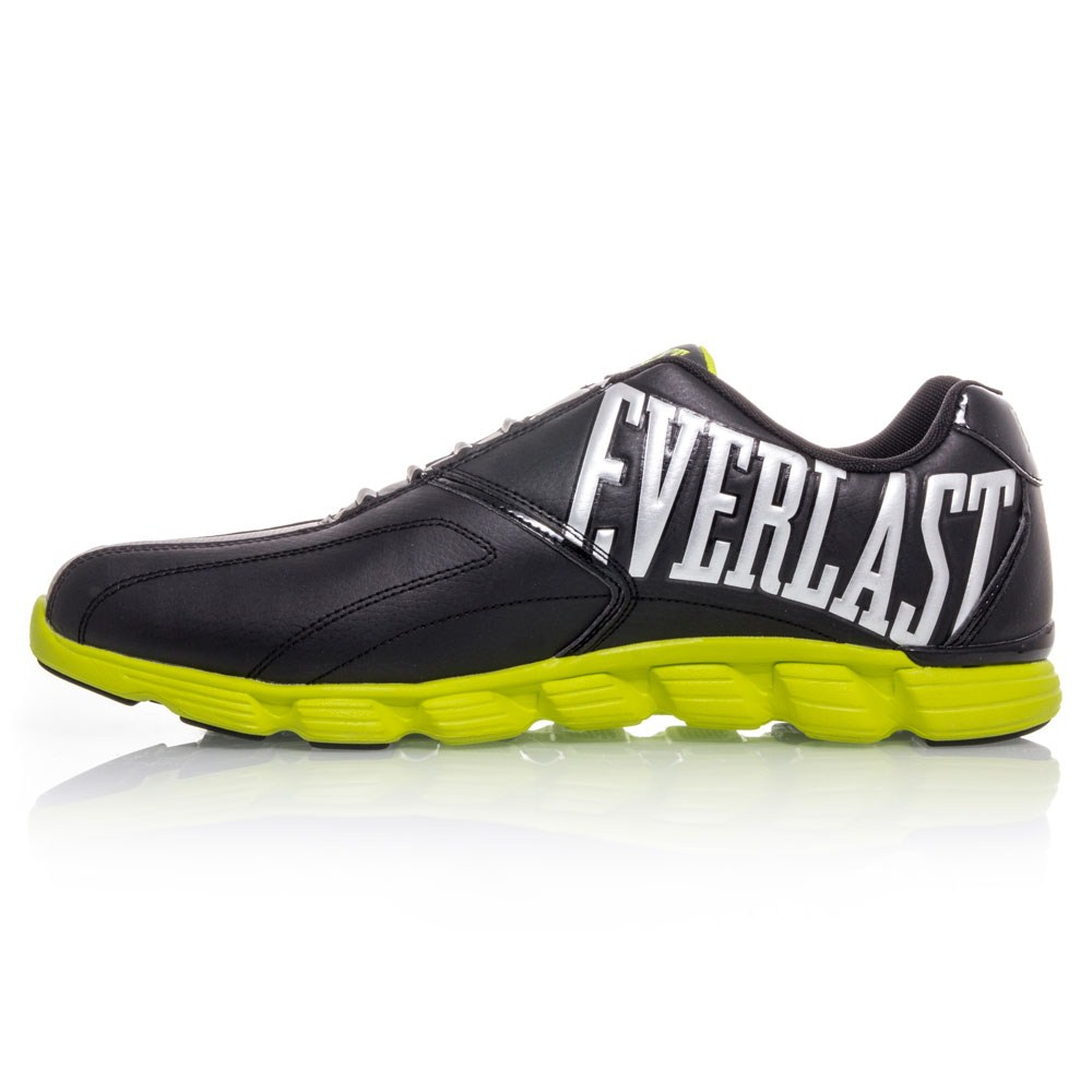 everlast defend mens casual shoes black fluro yellow