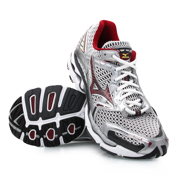 Mizuno Wave Nirvana 6 - Mens Running Shoes - Red/Silver ...