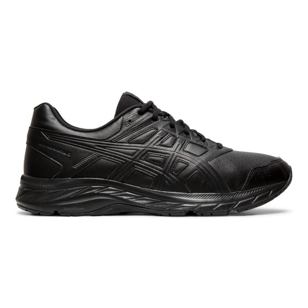 Asics Gel Contend 5 SL - Mens Walking Shoes - Black/Graphite Grey