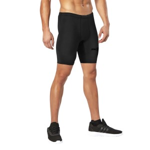 2XU MCS Mens Football Compression Shorts - Black/Nero