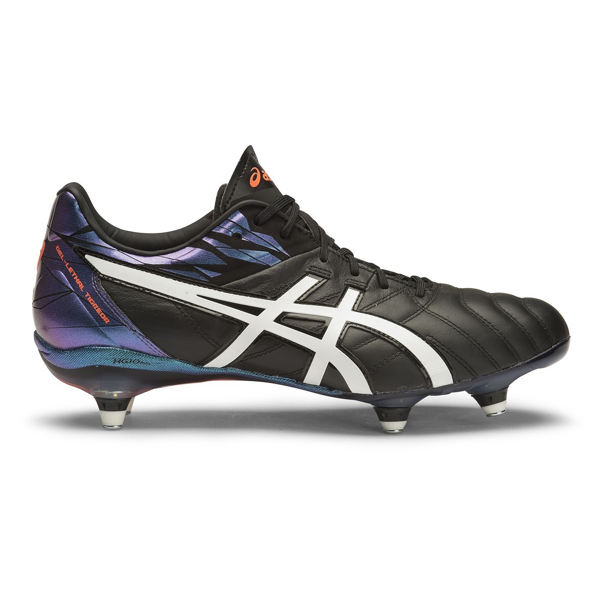 19d02106d4e7b Asics Gel Lethal Tigreor 9 ST - Mens Football Boots - Black White Flash .